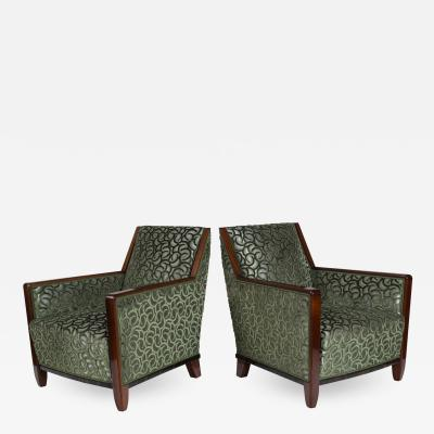 Fine Pair French Art Deco Bergeres