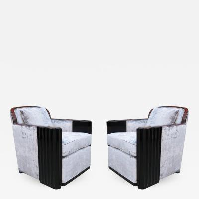 Fine Pair of Art Deco Armchairs