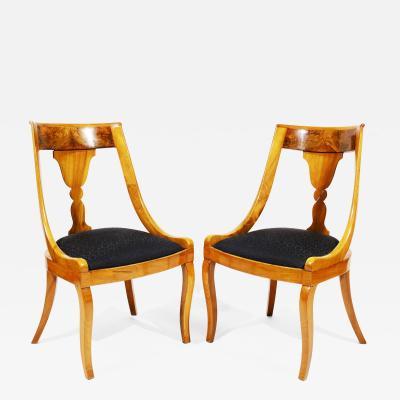 Fine Pair of Biedermeier Chairs