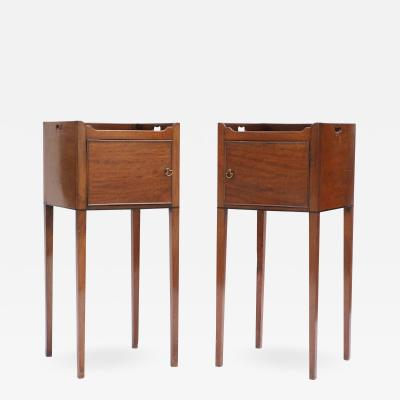 Fine Pair of Chippendale Period Mahogany Bedside Cabinets