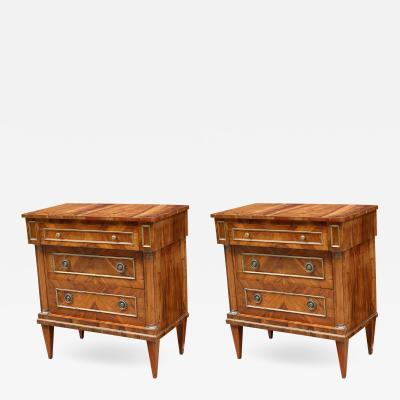 Fine Pair of Italian Neoclassical Small Chests