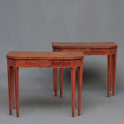 Fine Pair of Mahogany Card Tables
