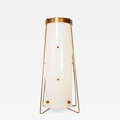 Fine Vintage Brass and Acrylic Cylinder Table Lamp Mid Century Modern
