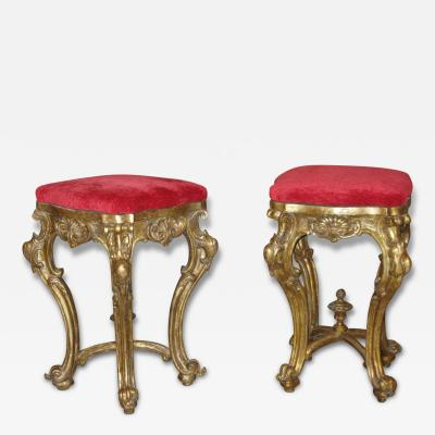 Fine and Important Pair of Stools