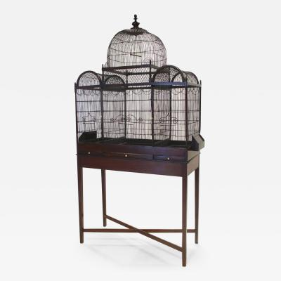 Fine and Rare English George III Birdcage on Stand circa 1780