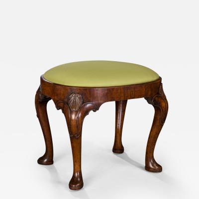 Fine and Rare Pair of George II walnut stools