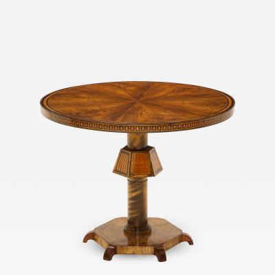 Fine inlaid Swedish Grace round table