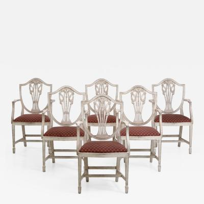 Fine set of six Gustavian style armchairs very good condition