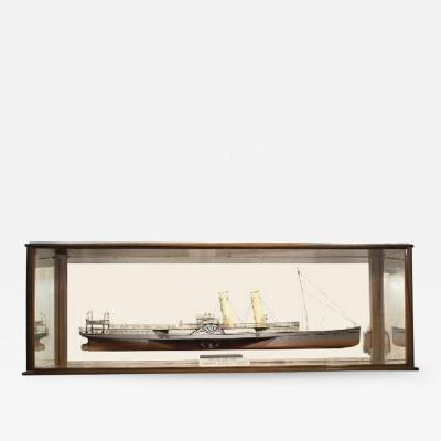 Fine shipbuilders mirror back model of the paddlesteamer Tantallon Castle