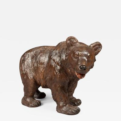 Finely Carved Antique Black Forest Bear of Important Size