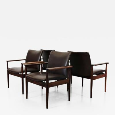 Finn Juhl 1963s Finn Juhl Armchairs Set of Four