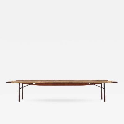 Finn Juhl BO 101 Bench in rosewood