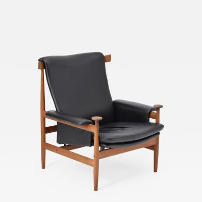 Finn Juhl Black Reupholstered Bwana Model 152 Lounge Chair by Finn Juhl for France Son