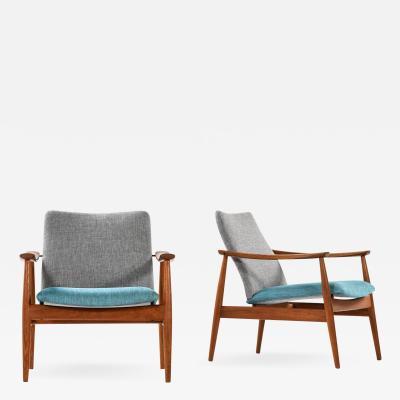 Finn Juhl Easy Chairs Model 138 Produced by France Son