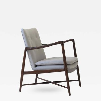 Finn Juhl Finn Juhl BO 59 Beechwood Lounge Chair for Bovirke Signed Denmark 1950s
