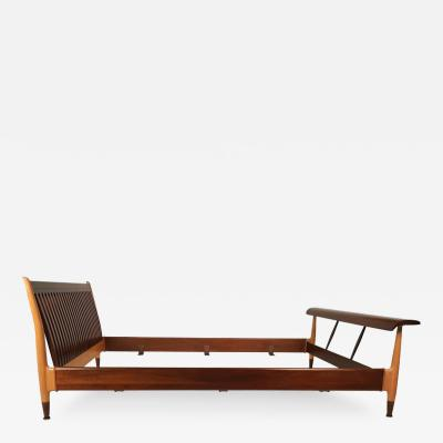 Finn Juhl Finn Juhl Full Size Sculpted Maple and Walnut Bed Frame