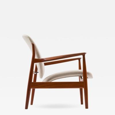 Finn Juhl Finn Juhl Lounge Chair Model FD 136 in Teak