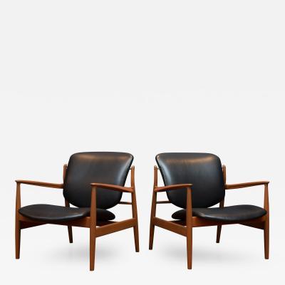 Finn Juhl Finn Juhl Lounge Chairs Model FD 136