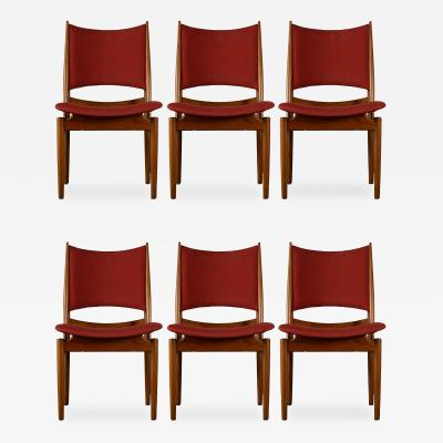 Finn Juhl Finn Juhl Set of 6 Egyptian Side Chairs