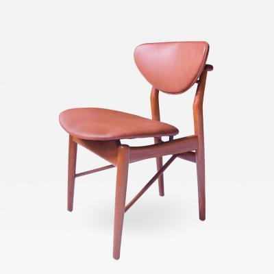 Finn Juhl Finn Juhl Side Chair Model 108 in Teak and Leather Denmark 1946
