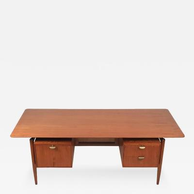 Finn Juhl Finn Juhl Teak Executive Desk with Floating Top
