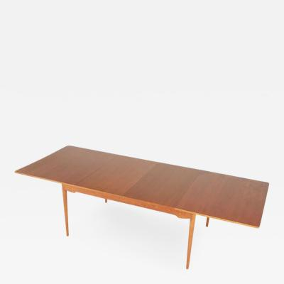 Finn Juhl Finn Juhl for Baker Expandable Teak Dining Table Restored