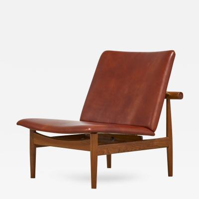 Finn Juhl Finn Juhl for France Sons Japan Chair Model 137 in Leather 1950s