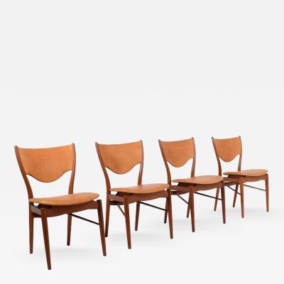 Finn Juhl Four Finn Juhl Model BO 63 Side Chairs