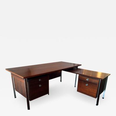Finn Juhl Large Rosewood Diplomat Executive Desk by Finn Juhl