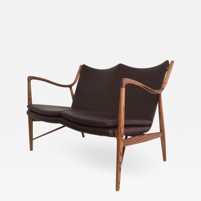 Finn Juhl Mid Century Modern Style Zebrawood Settee