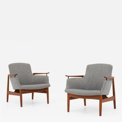 Finn Juhl NV 53 Easy chairs in teak set