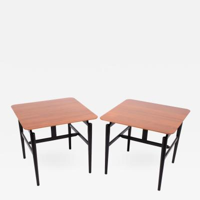 Finn Juhl Pair Finn Juhl side tables for Baker