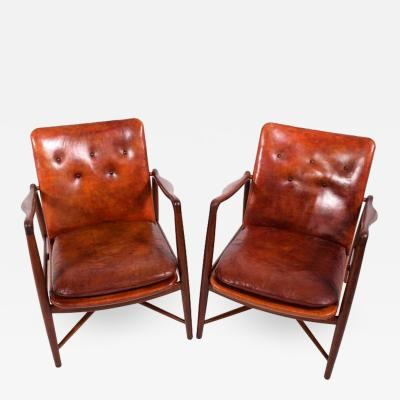 Finn Juhl Pair of Finn Juhl Chairs for Bovirke 1946