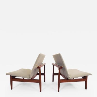 Finn Juhl Pair of Finn Juhl Lounge Chairs mod Japan 137