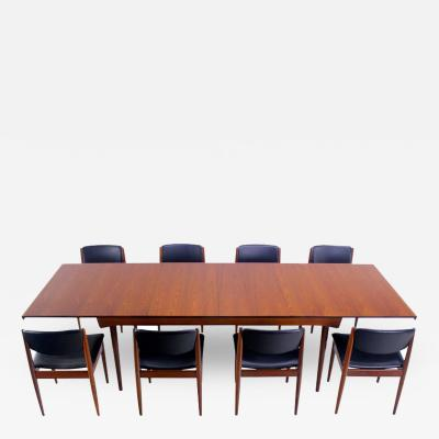 Finn Juhl Rare Danish Modern Teak Dining Set Designed by Finn Juhl