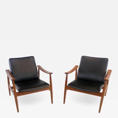 Finn Juhl Rare Pair of Armchairs Designed by Finn Juhl