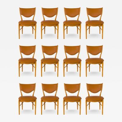 Finn Juhl Set of 12 Finn Juhl BO 63 Dining Chairs