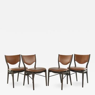 Finn Juhl Set of 4 Side Chairs by Finn Juhl for Bovirke Model BO 63 1952
