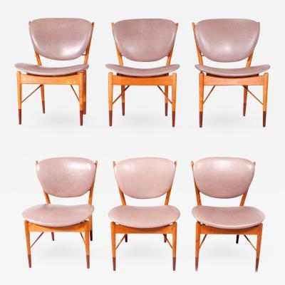 Finn Juhl Set of Six Finn Juhl NV 51 for Baker Dining Chairs