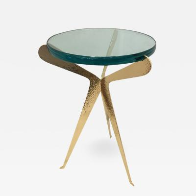 Fiore Side Table Hammered Brass Version