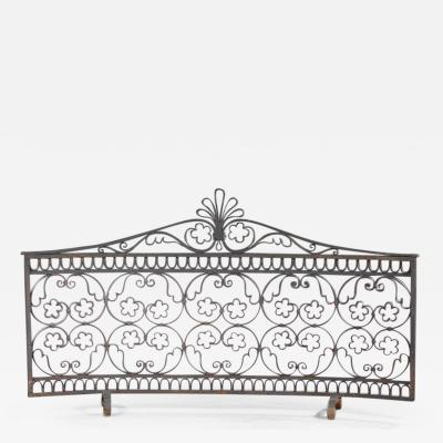 Fire screen 1930 1940 work wrought iron screen decorated with plant motifs