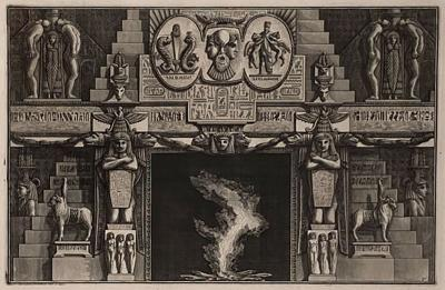 Fireplace Surround 1 Piranese Engraving Italy Circa 1760