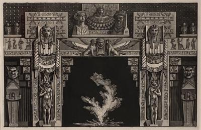 Fireplace Surround 2 Piranese Engraving Italy Circa 1760