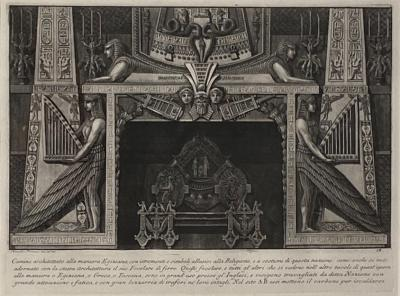 Fireplace Surround 4 Piranese Engraving Italy Circa 1760