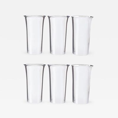 Fisher Silversmith Inc Set of Six Sterling Tumblers by Fisher