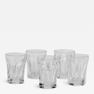 Five Baccarat Talleyrand Crystal Shot Glasses