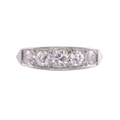 Five Diamond White Gold Ring
