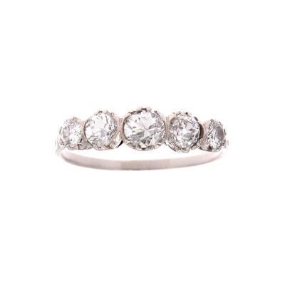 Five Stone Diamond Platinum Ring