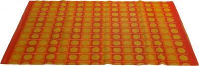 Flat weave Scandinavian op art rug