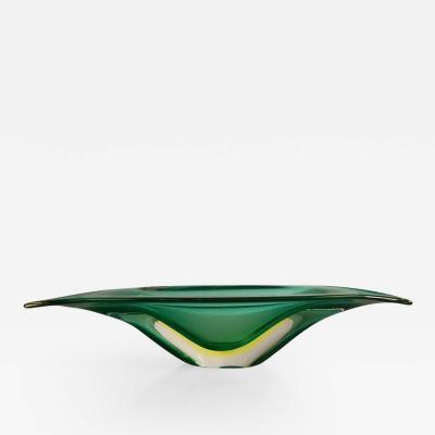 Flavio Poli Italian Centerpiece Murano Bowl by Flavio Poli for Seguso Vetri dArte 1950s